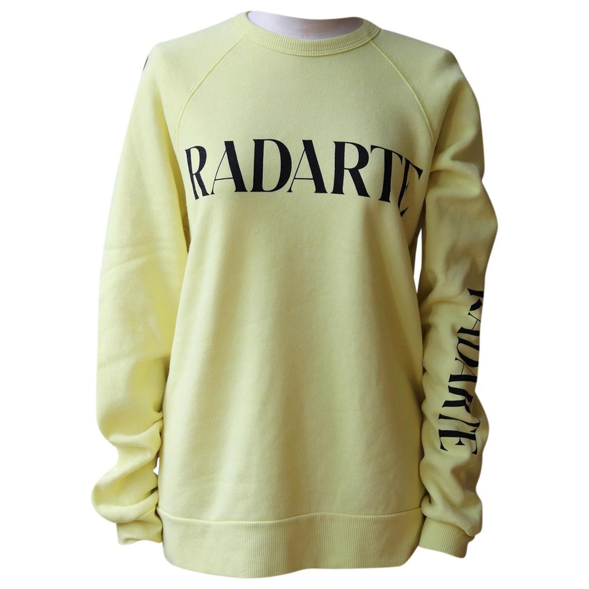 Rodarte - Pull   pour femme en coton - jaune