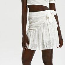 Faldas Nudo Floral Blanco Bohemio