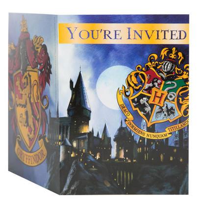 Harry Potter 8 Invitations NEW Pour la fête d'anniversaire
