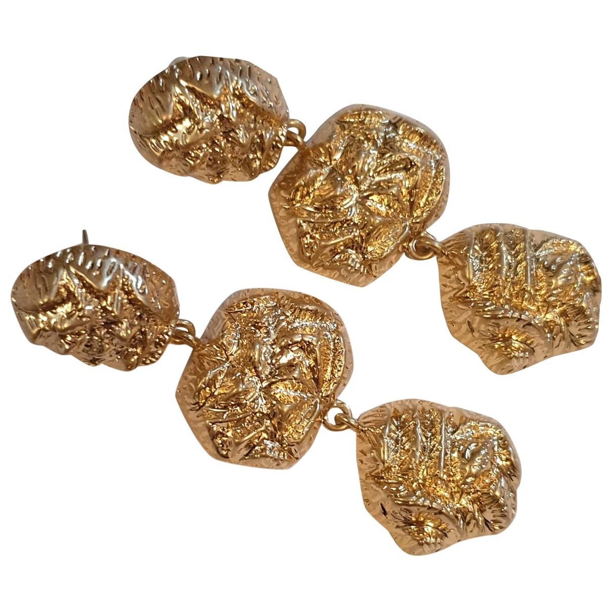 Anthropologie N Gold Metal Earrings for Women N