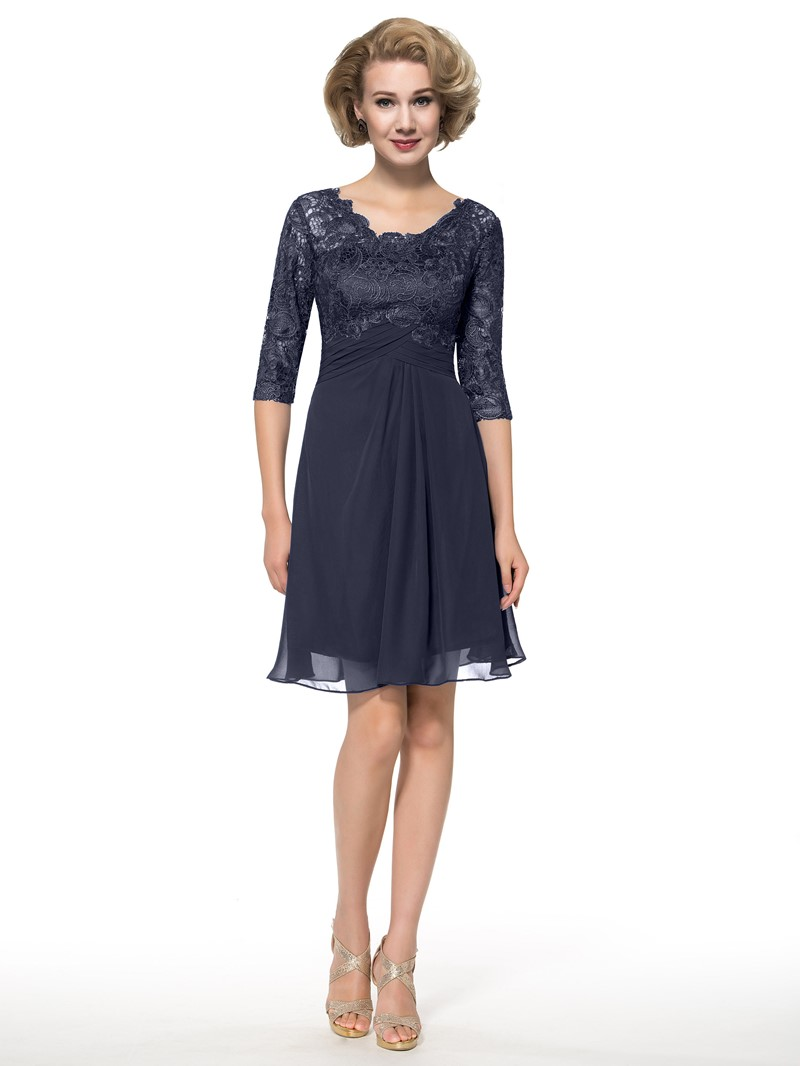Ericdress Half Sleeves Lace Short Mother of the Bride Dress