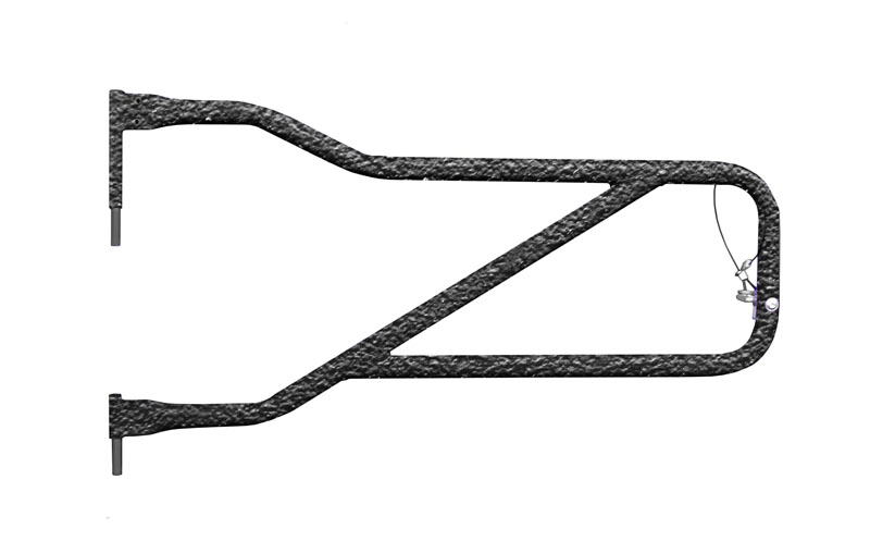 Steinjager J0048945 Doors, Tubular Gladiator JT 2019 to Present Texturized Black Front Doors