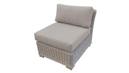 TKC038b-AS-BEIGE Armless Chair - 2 Sets of Beige