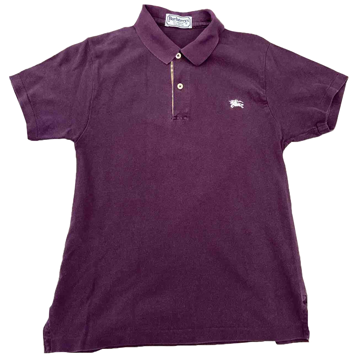 Burberry - Polos   pour homme en coton - violet