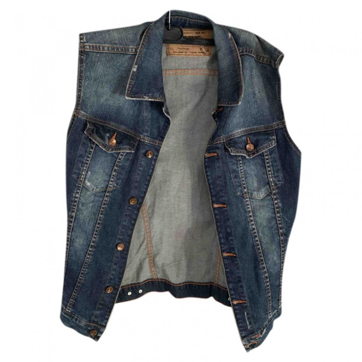 Zara - Pulls.Gilets.Sweats   pour homme en coton - bleu