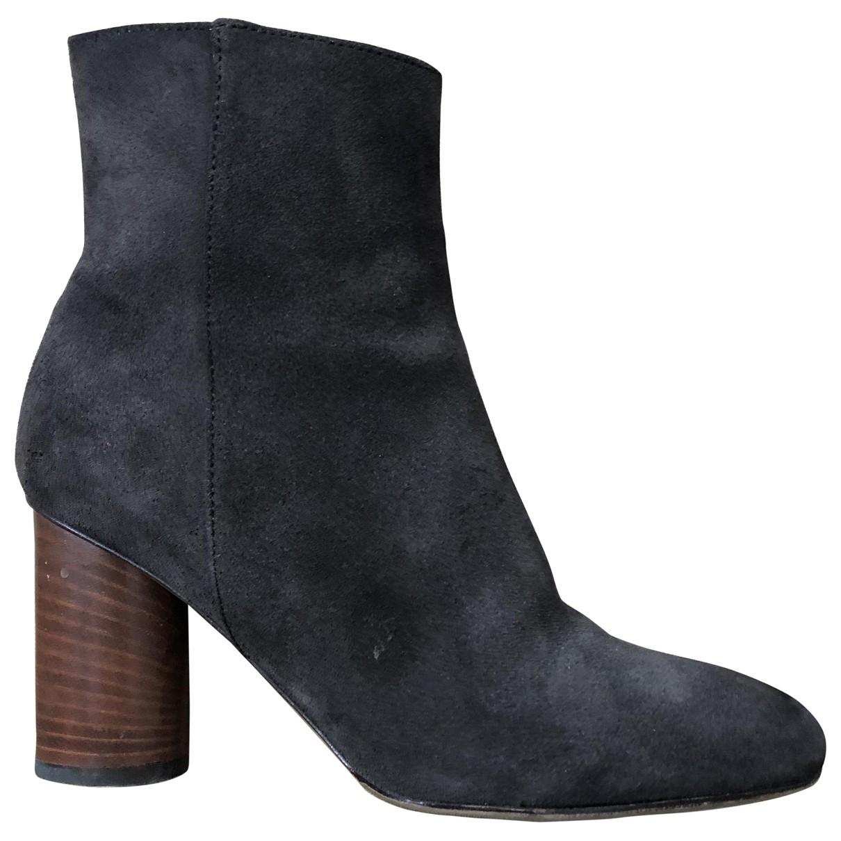 Jerome Dreyfuss - Boots   pour femme en suede - marron