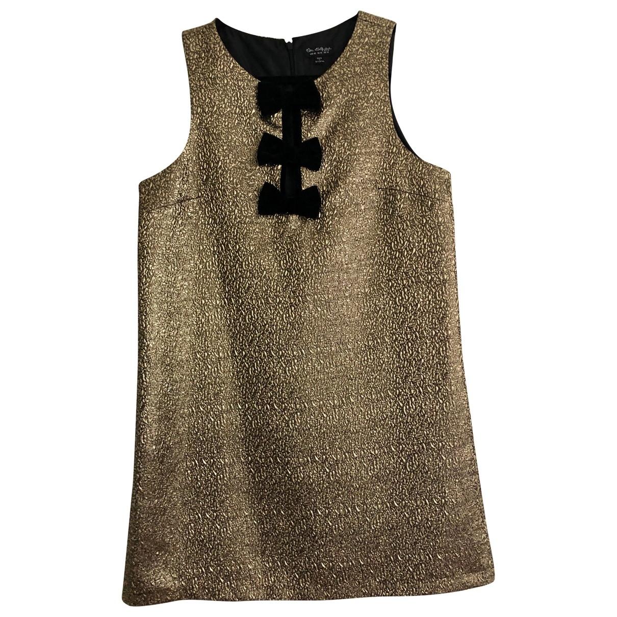 Miss Selfridge \N Kleid in  Gold Polyester