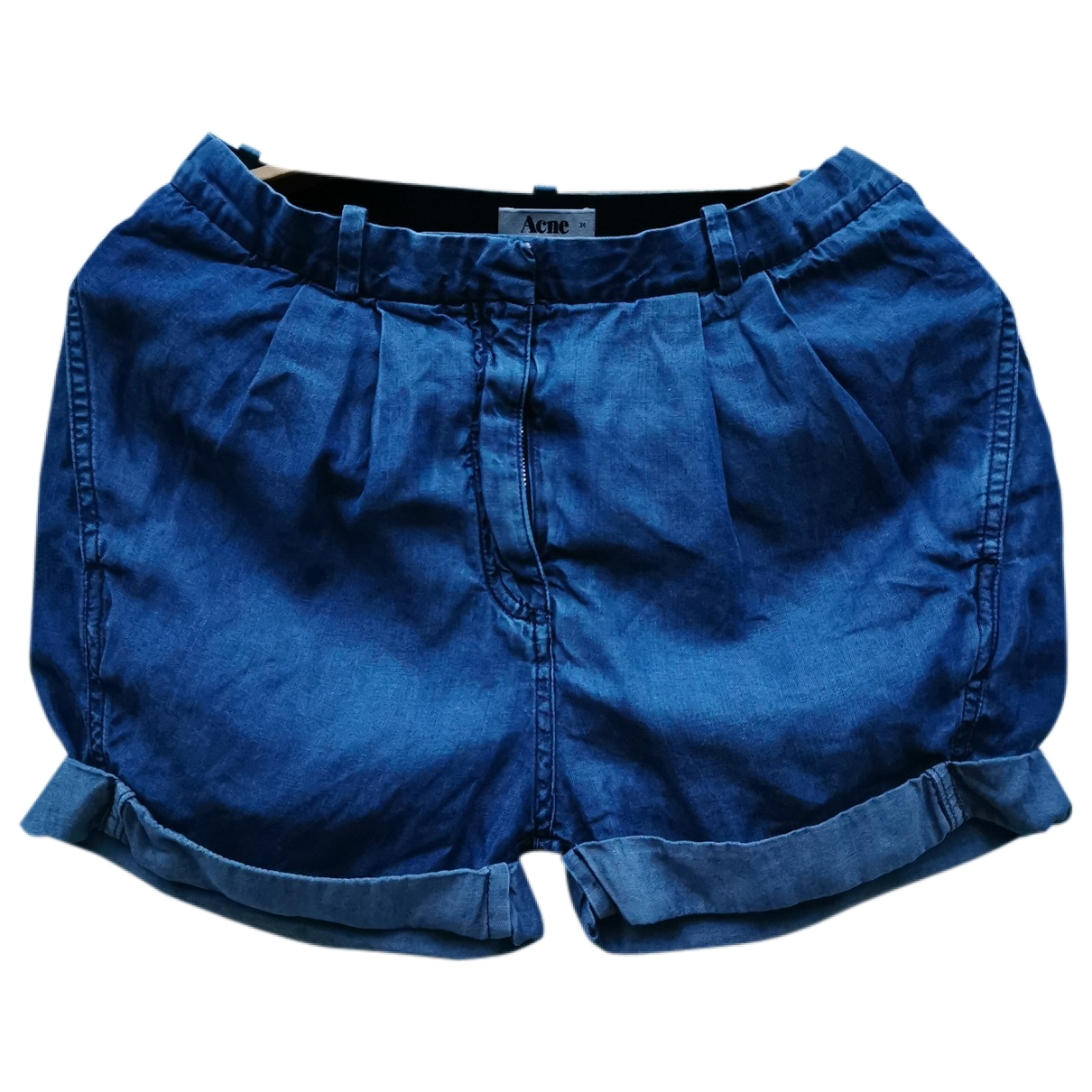 Acne Studios \N Blue Cloth Shorts for Women 34 FR