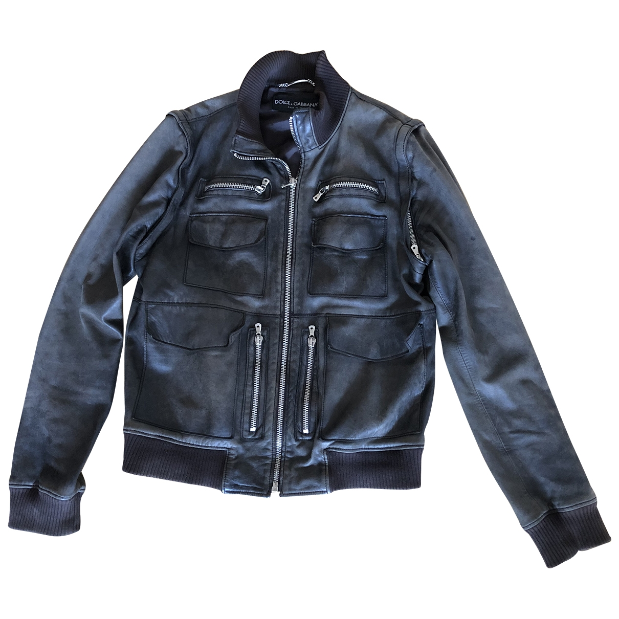 Dolce & Gabbana \N Brown Leather jacket  for Men 56 IT