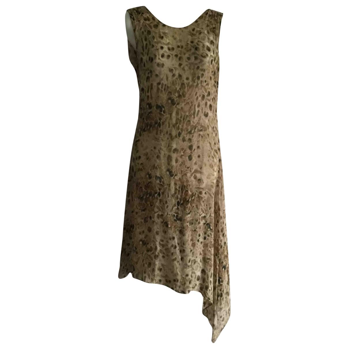 Kenzo - Robe   pour femme en soie - vert