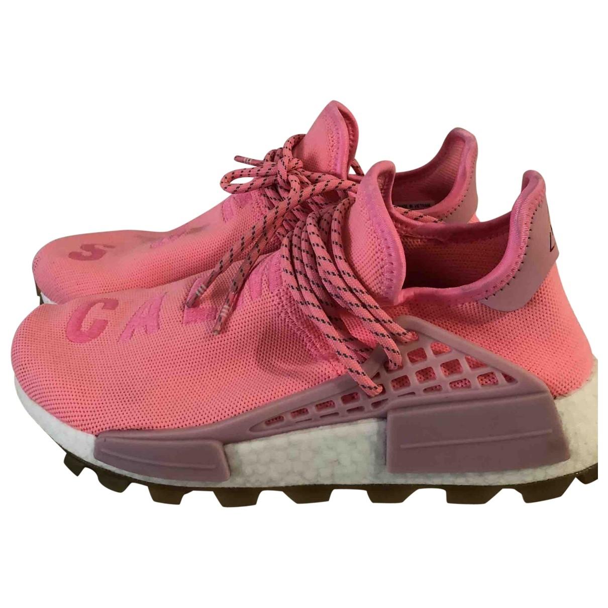 Adidas X Pharrell Williams - Baskets NMD Hu pour femme en toile - rose