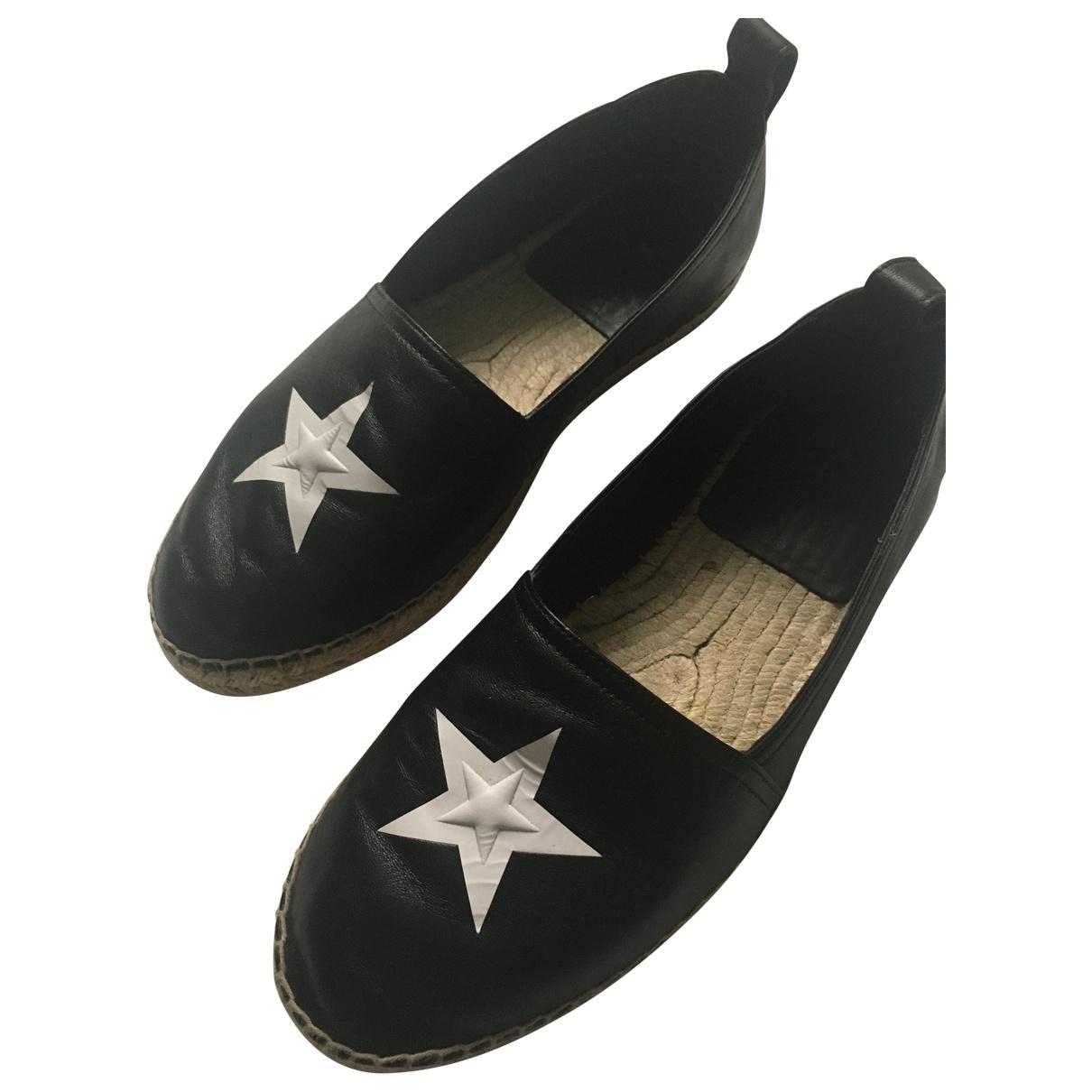 Givenchy \N Espadrilles in  Schwarz Leder