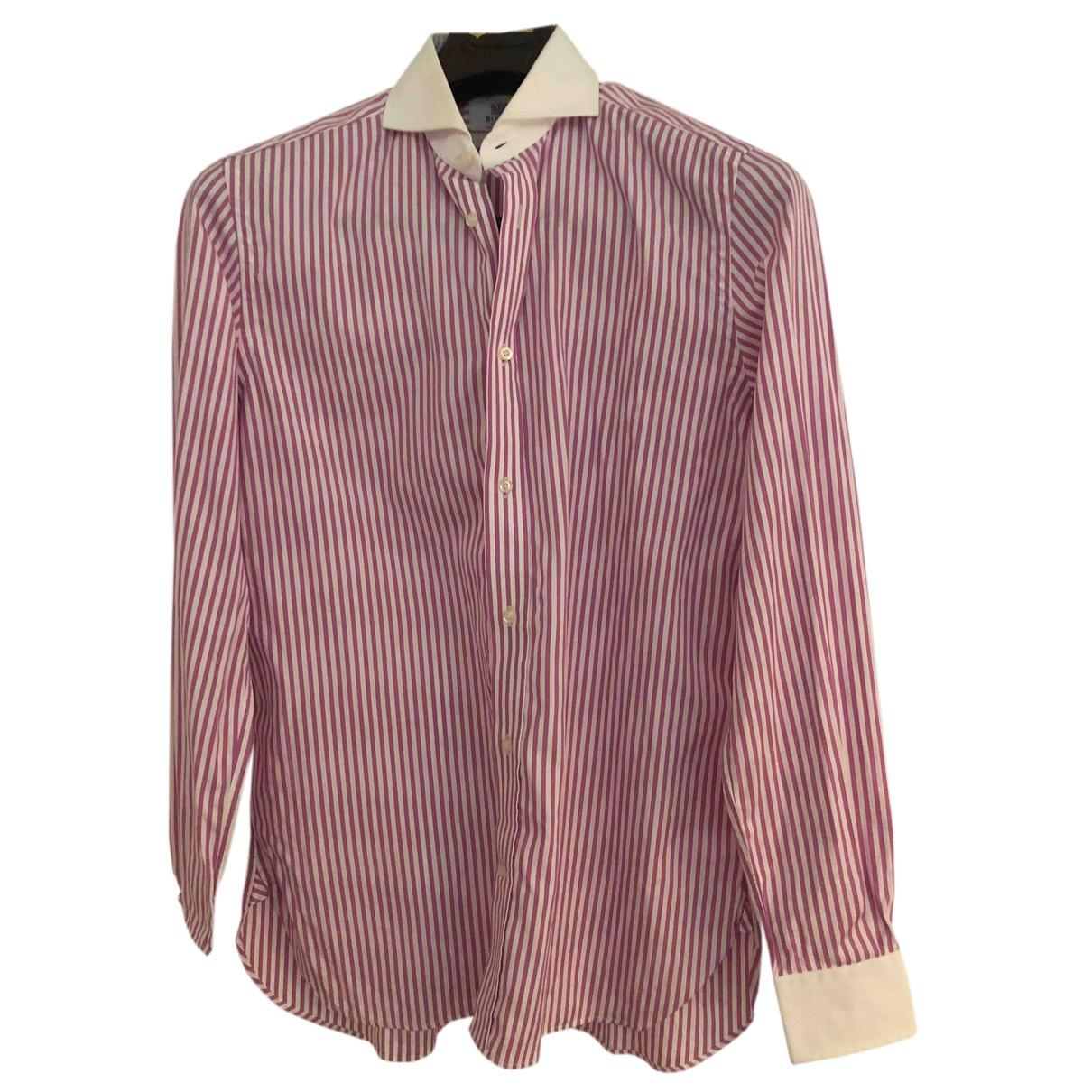 Boggi - Chemises   pour homme en coton - rose