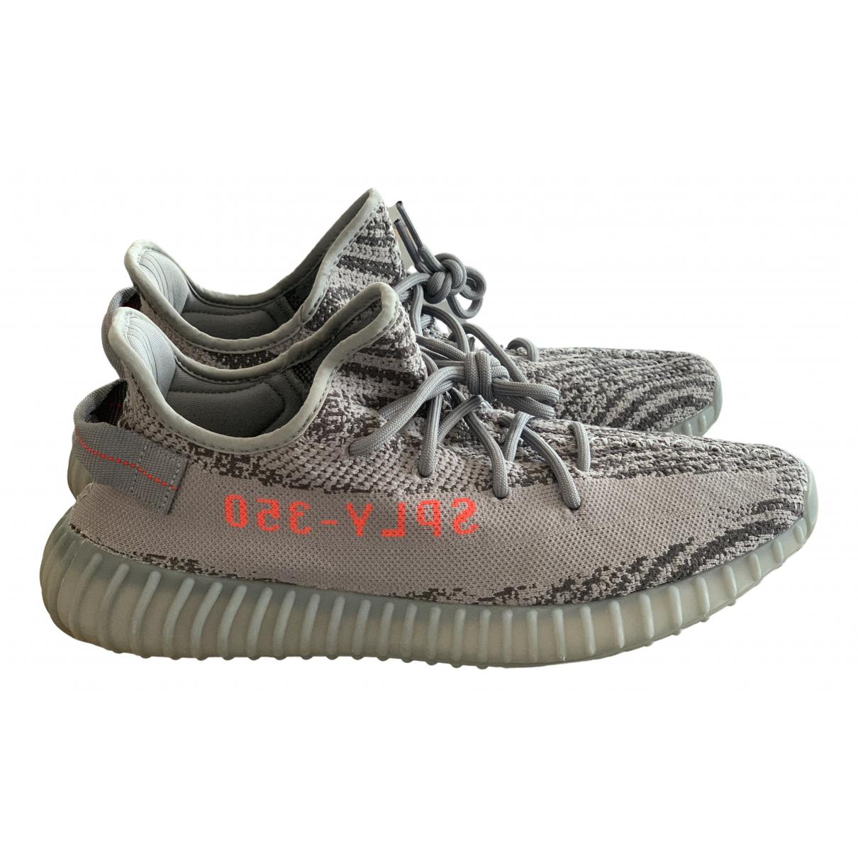 Yeezy X Adidas Boost 350 V2 Sneakers in  Grau Leinen