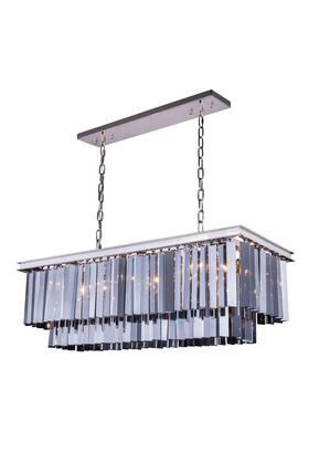1202D40PN-SS/RC 1202 Sydney Collection Pendent Lamp D: 14 H: 18 Lt: Polished nickel Finish (Royal Cut Silver Shade