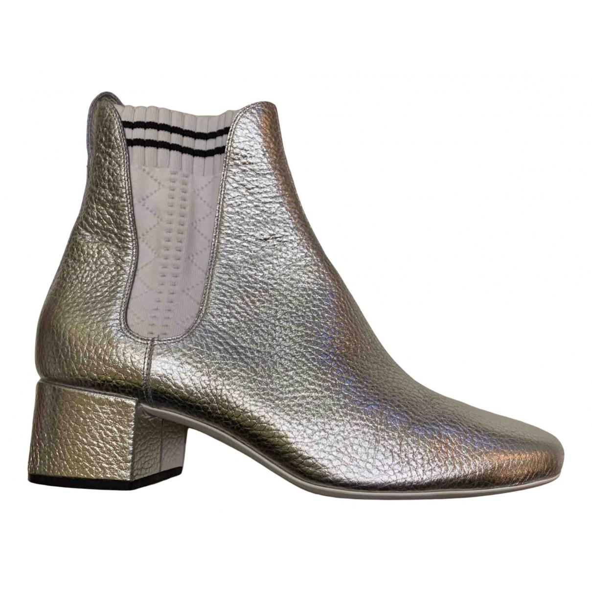 Fendi \N Stiefeletten in  Silber Leder