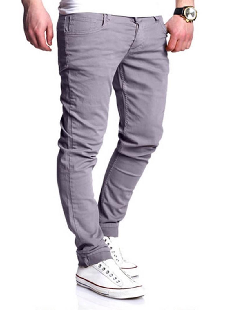 Ericdress Thin Plain Pocket Mens Casual Pants