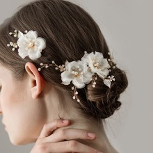 2pcs Flower Decor Hair Clip
