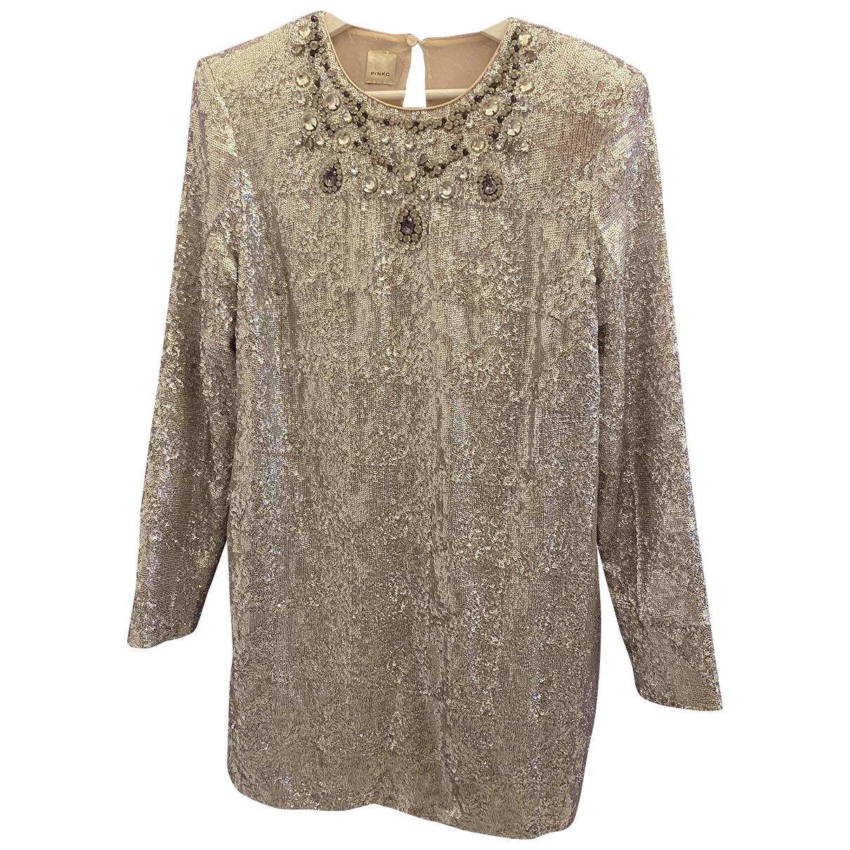 Pinko \N Silver dress for Women 44 IT