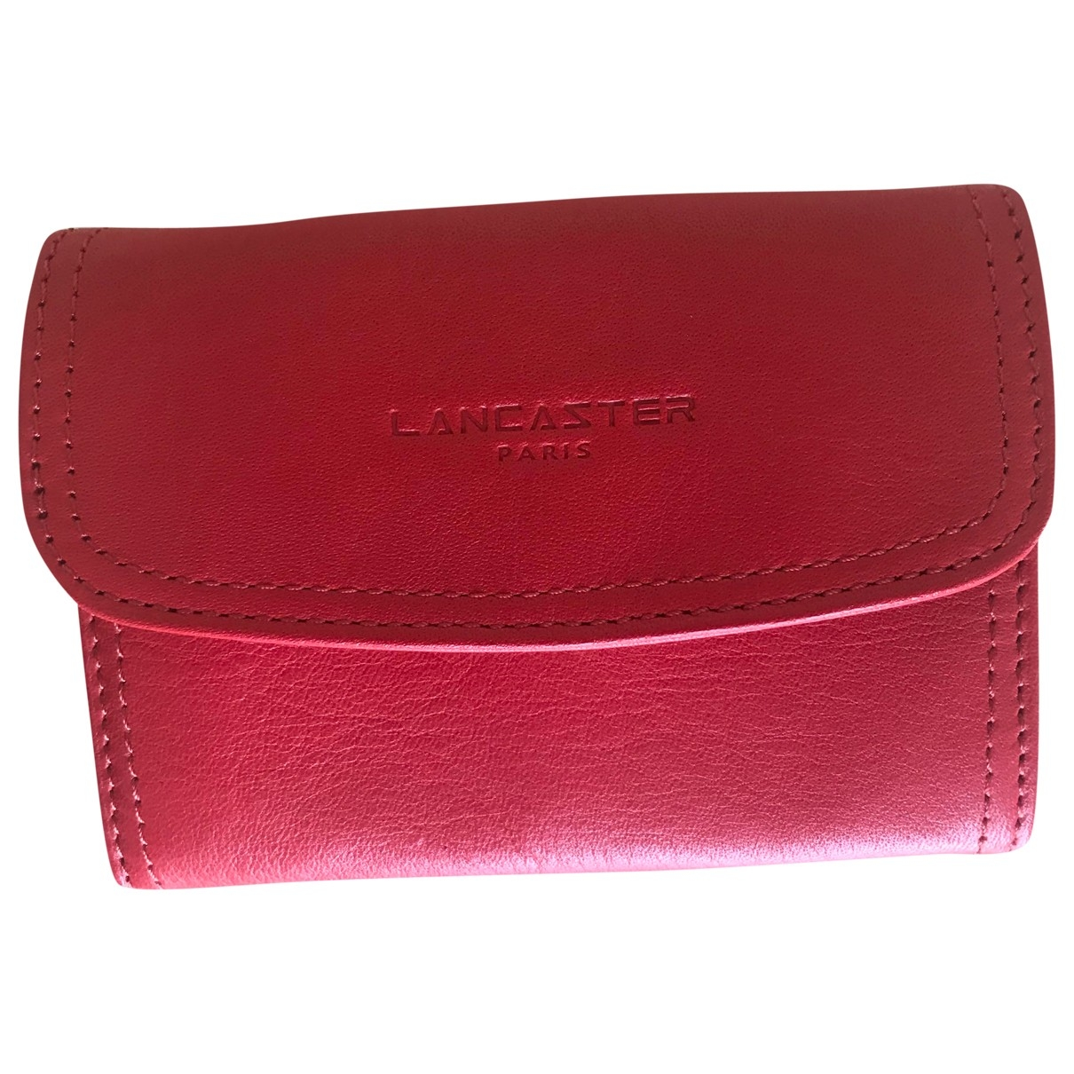 Lancaster \N Kleinlederwaren in  Rot Leder