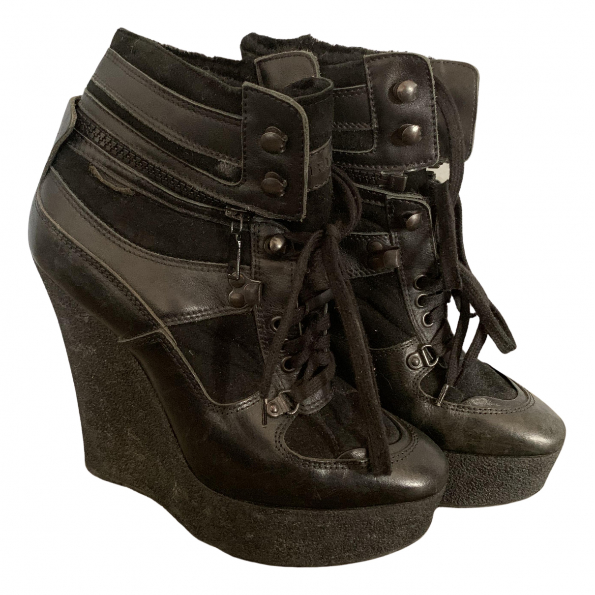 Burberry N Black Leather Ankle boots for Women 39 EU