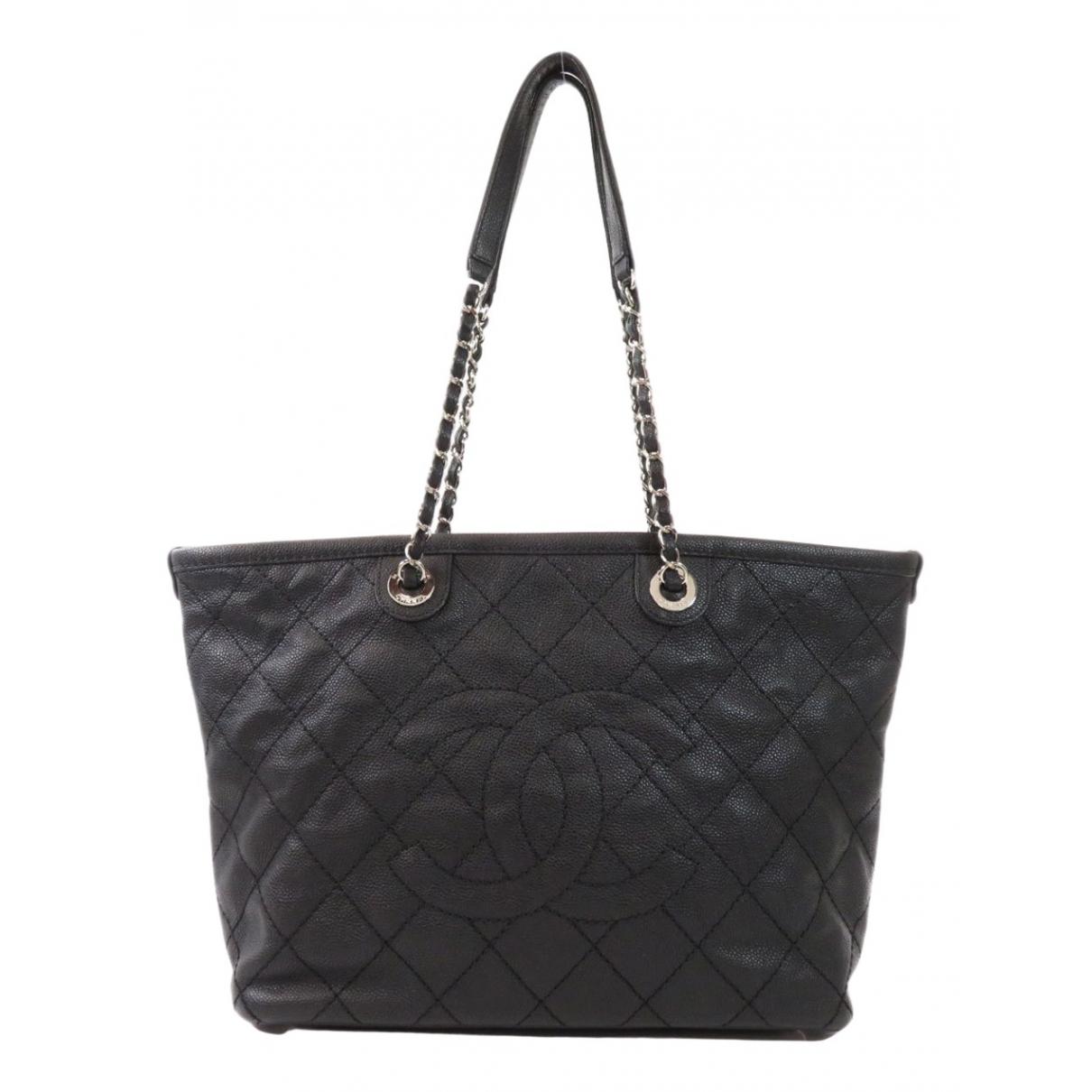Chanel Grand shopping Handtasche in  Schwarz Leder