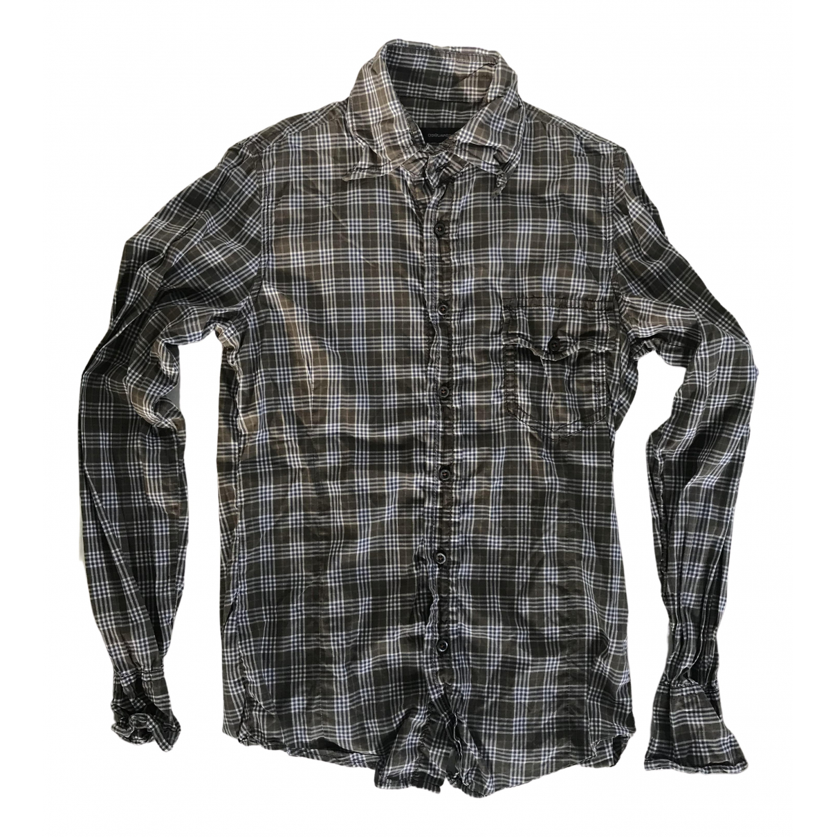 Dsquared2 - Chemises   pour homme en coton - kaki