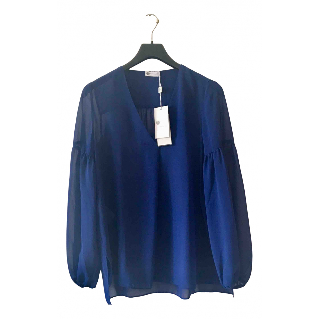 Non Signé / Unsigned N Blue  top for Women 44 IT