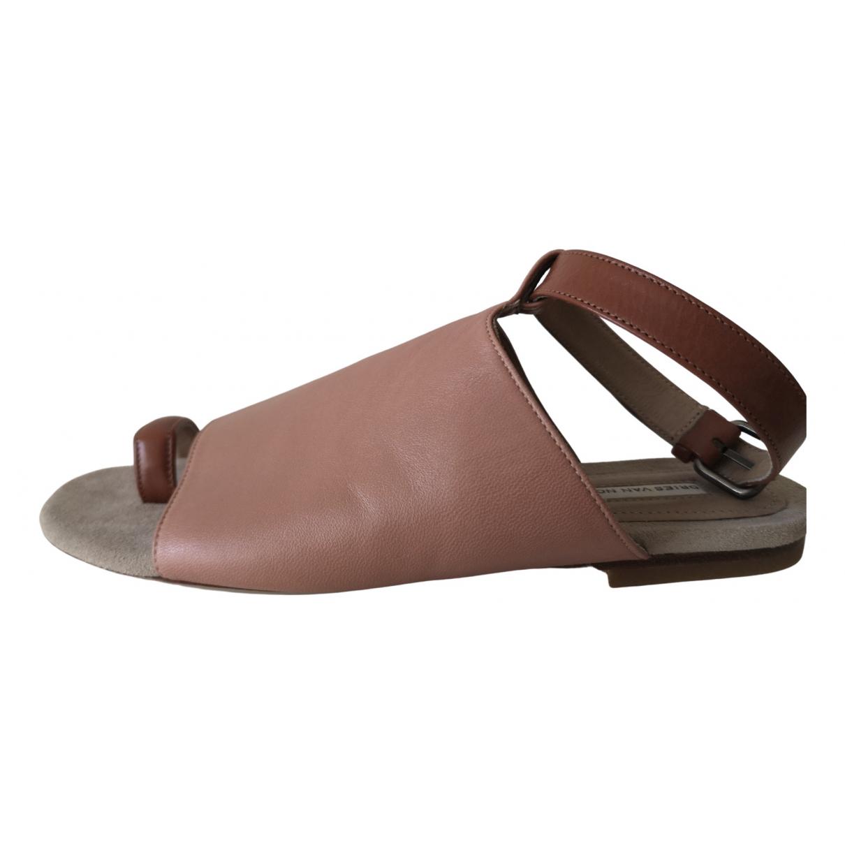 Dries Van Noten - Sandales   pour femme en cuir - beige