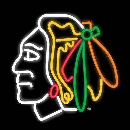 450-4002 Chicago Blackhawks Neon