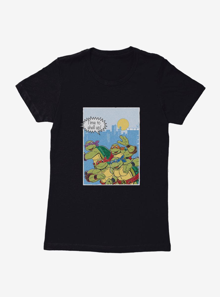 Teenage Mutant Ninja Turtles Comic Strip Run Womens T-Shirt
