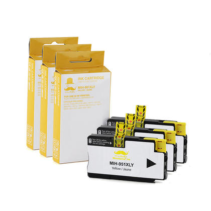 Compatible HP 951XL CN048AN Yellow Ink Cartridge - High Yield Version of HP 951 Yellow Ink - 3/Pack