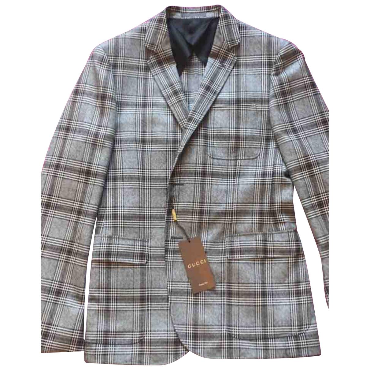 Gucci \N Jacke in  Grau Wolle
