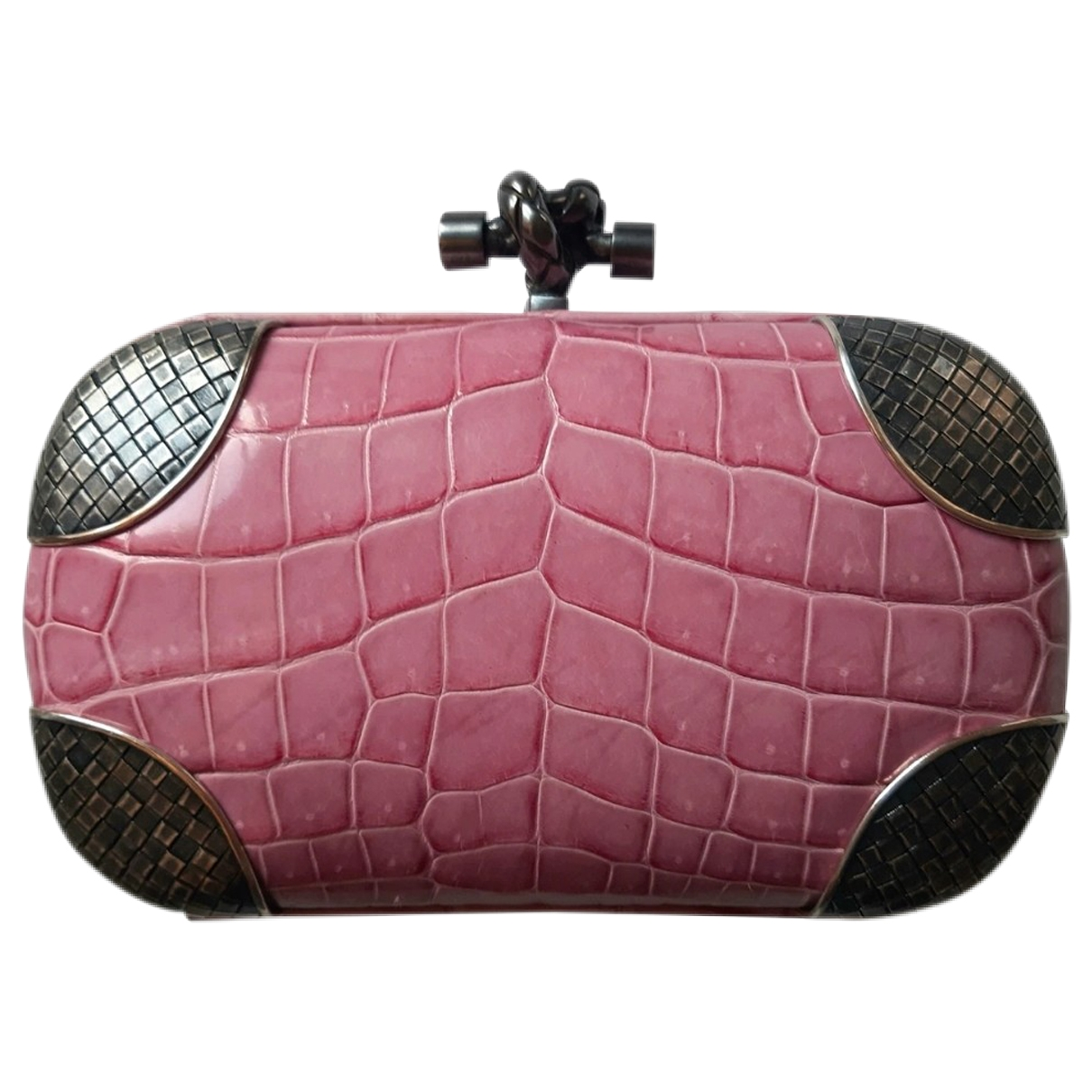 Bottega Veneta Pochette Knot Pink Crocodile Clutch bag for Women \N