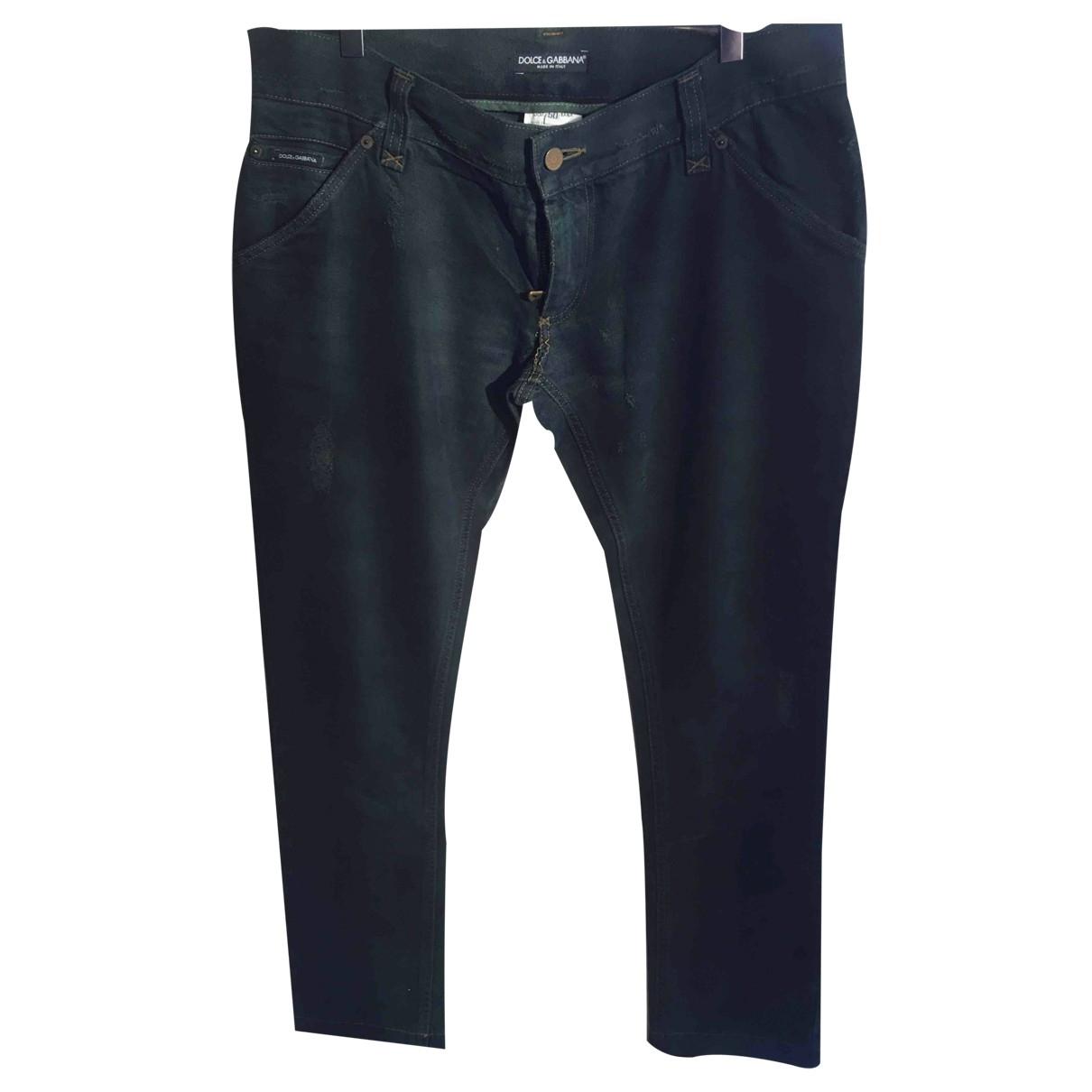Dolce & Gabbana \N Green Cotton Jeans for Men 50 IT