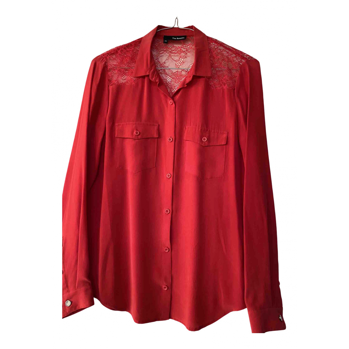 The Kooples N Red Silk  top for Women XS International