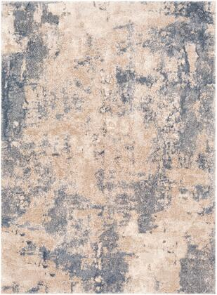 Venice VNE-2303 67 x 96 Rectangle Modern Rugs in Denim  Pale Blue  Camel  Light Gray