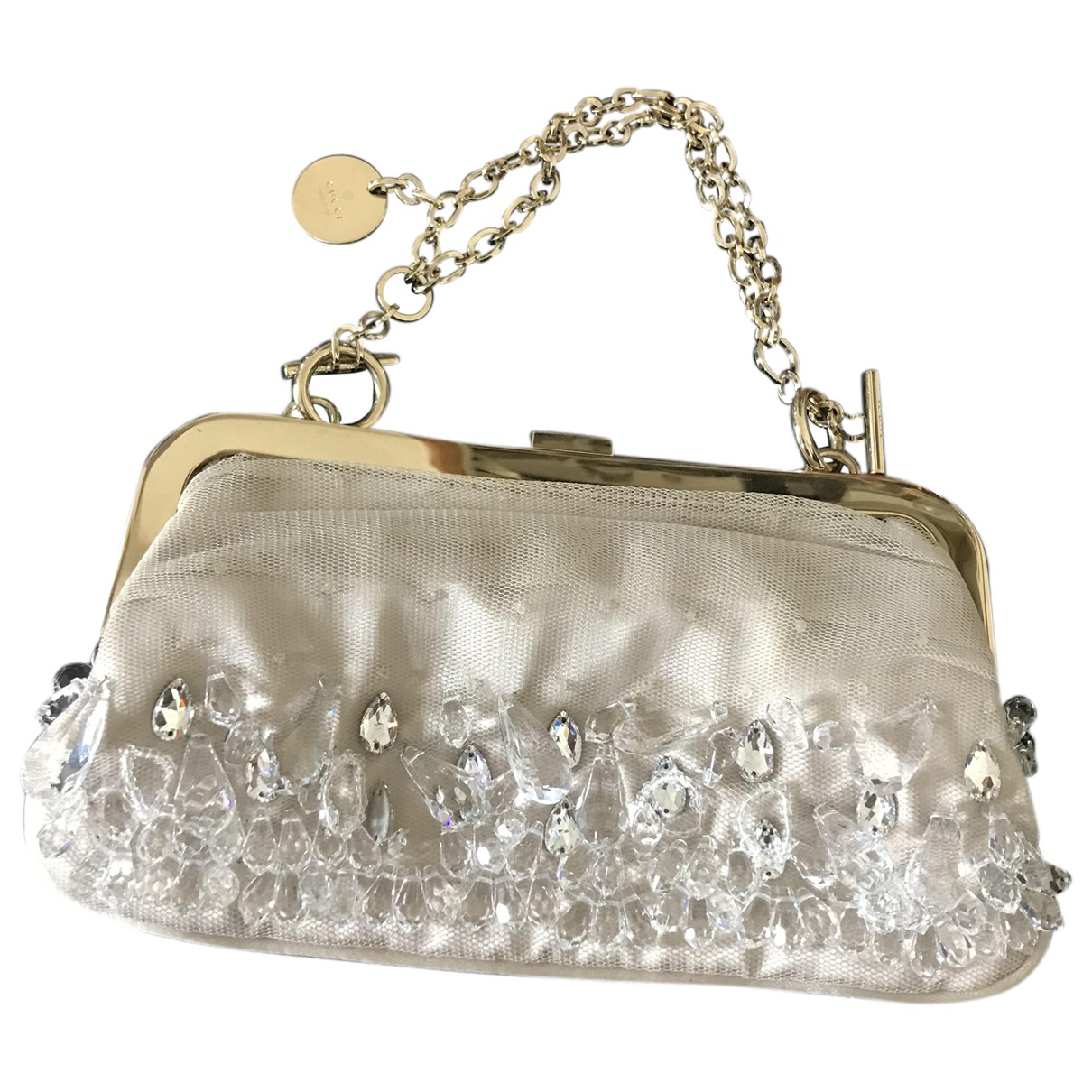 Gucci \N Ecru Silk Clutch bag for Women \N