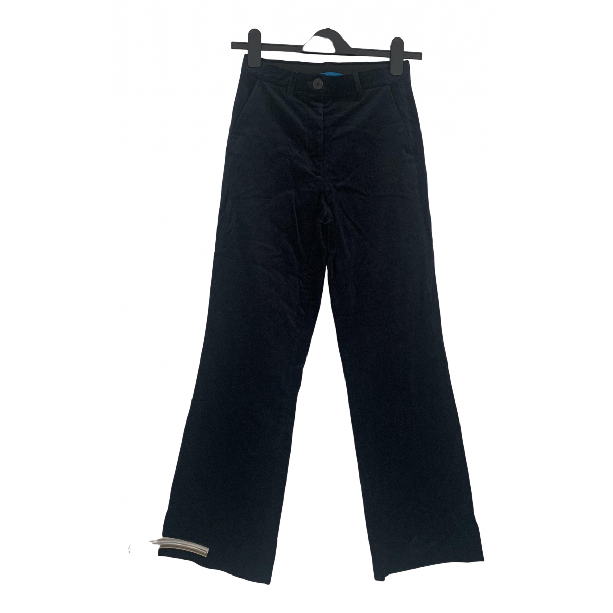 Mih Jeans \N Navy Velvet Trousers for Women XS International