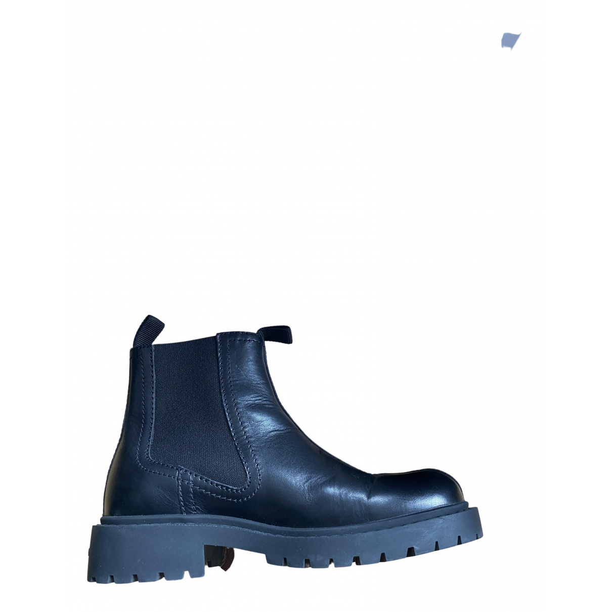 Kenzo N Black Leather Boots for Men 40 EU