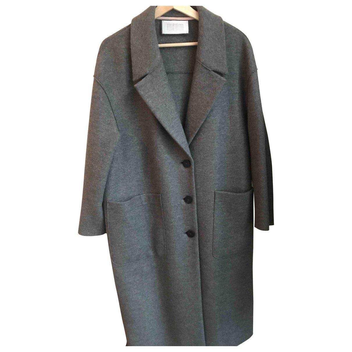 Harris Wharf London - Manteau   pour femme en laine - gris