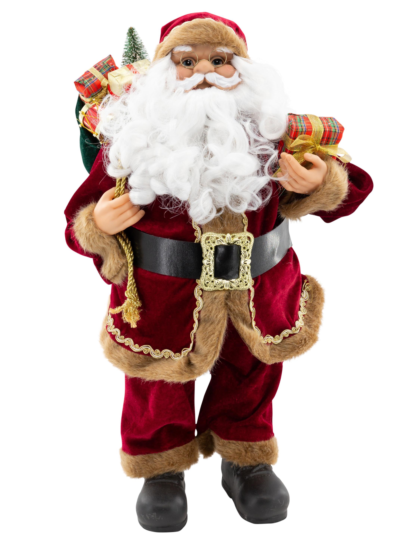 Weihnachtsmann 60cm weinrot