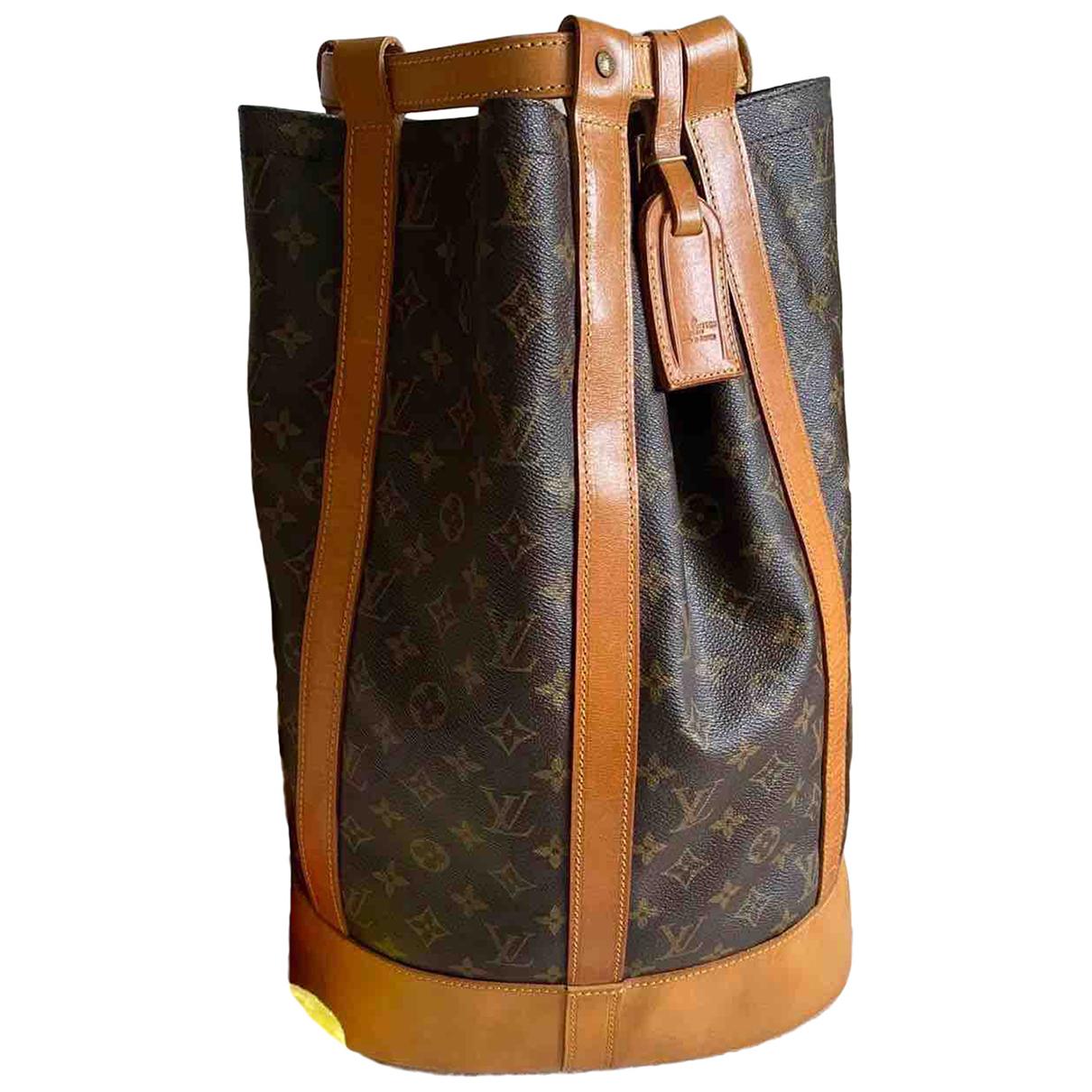 Louis Vuitton - Sac a dos Randonnee pour femme en toile - marron