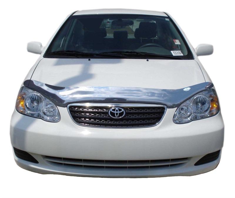 AVS 20554 Carflector Low Profile Hood Shield - Smoke Toyota Corolla 2003-2008