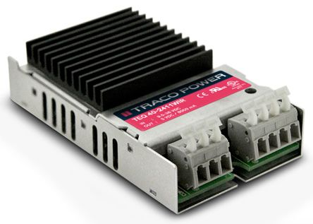 TRACOPOWER TEQ 40WIR 40W Isolated DC-DC Converter Chassis Mount, Voltage in 18 → 75 V dc, Voltage out 5V dc