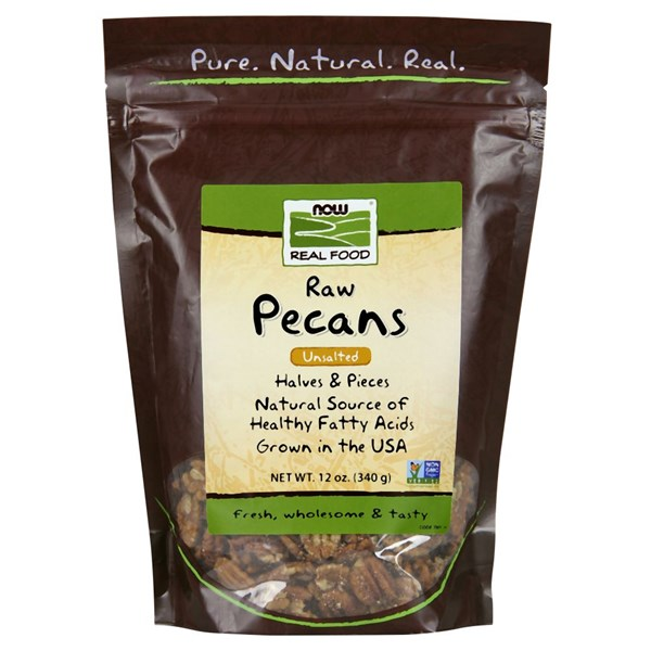 Pecans Halves and Pieces Raw 12 oz by Now Foods