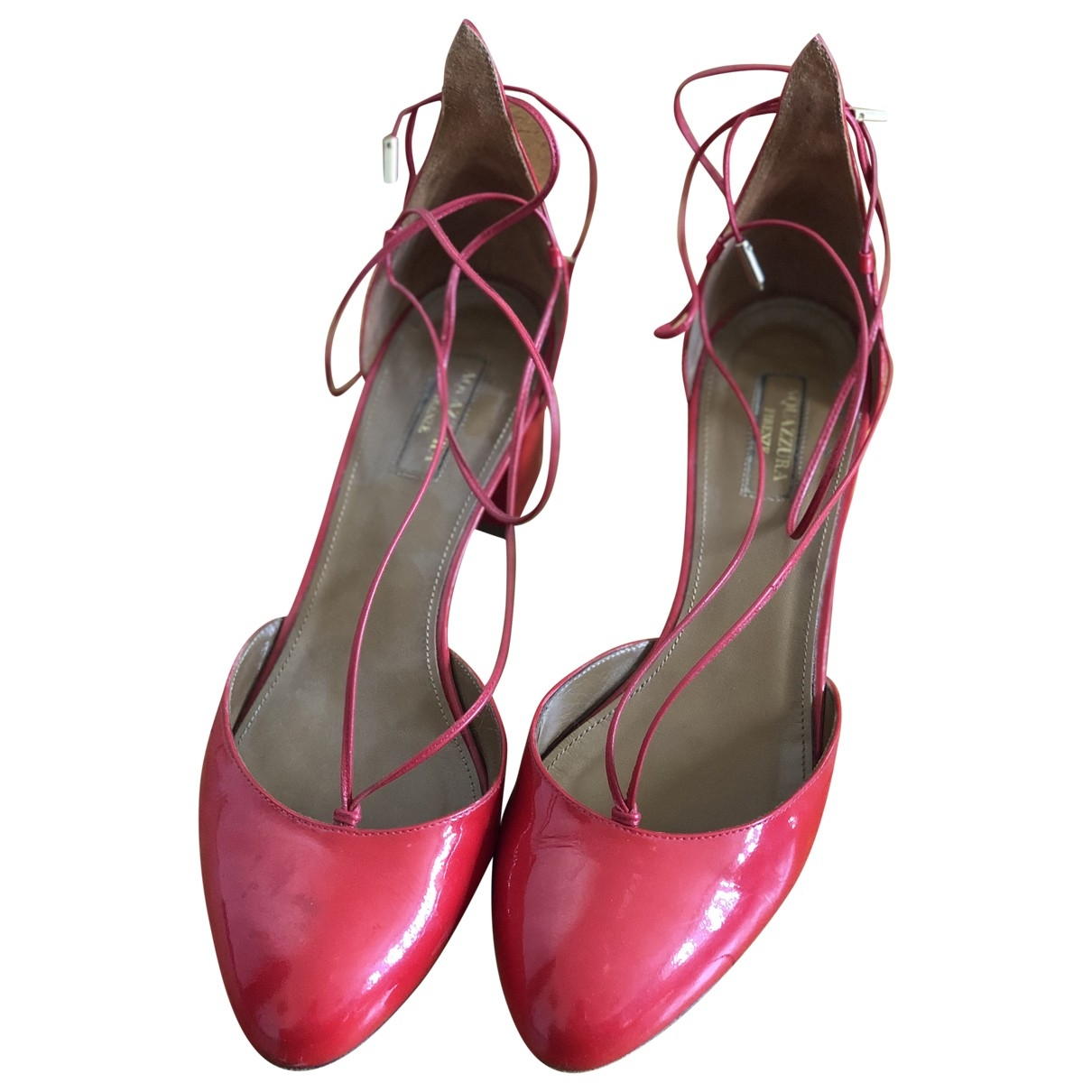 Aquazzura \N Red Patent leather Heels for Women 40 EU