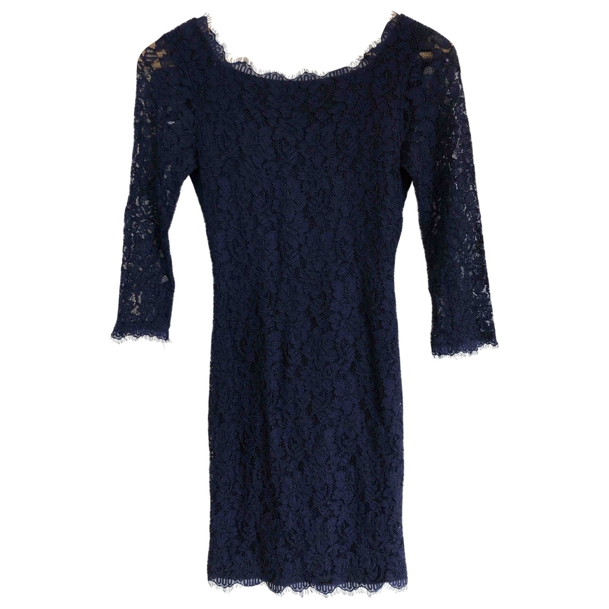Diane Von Furstenberg \N Blue Lace dress for Women 0 0-5