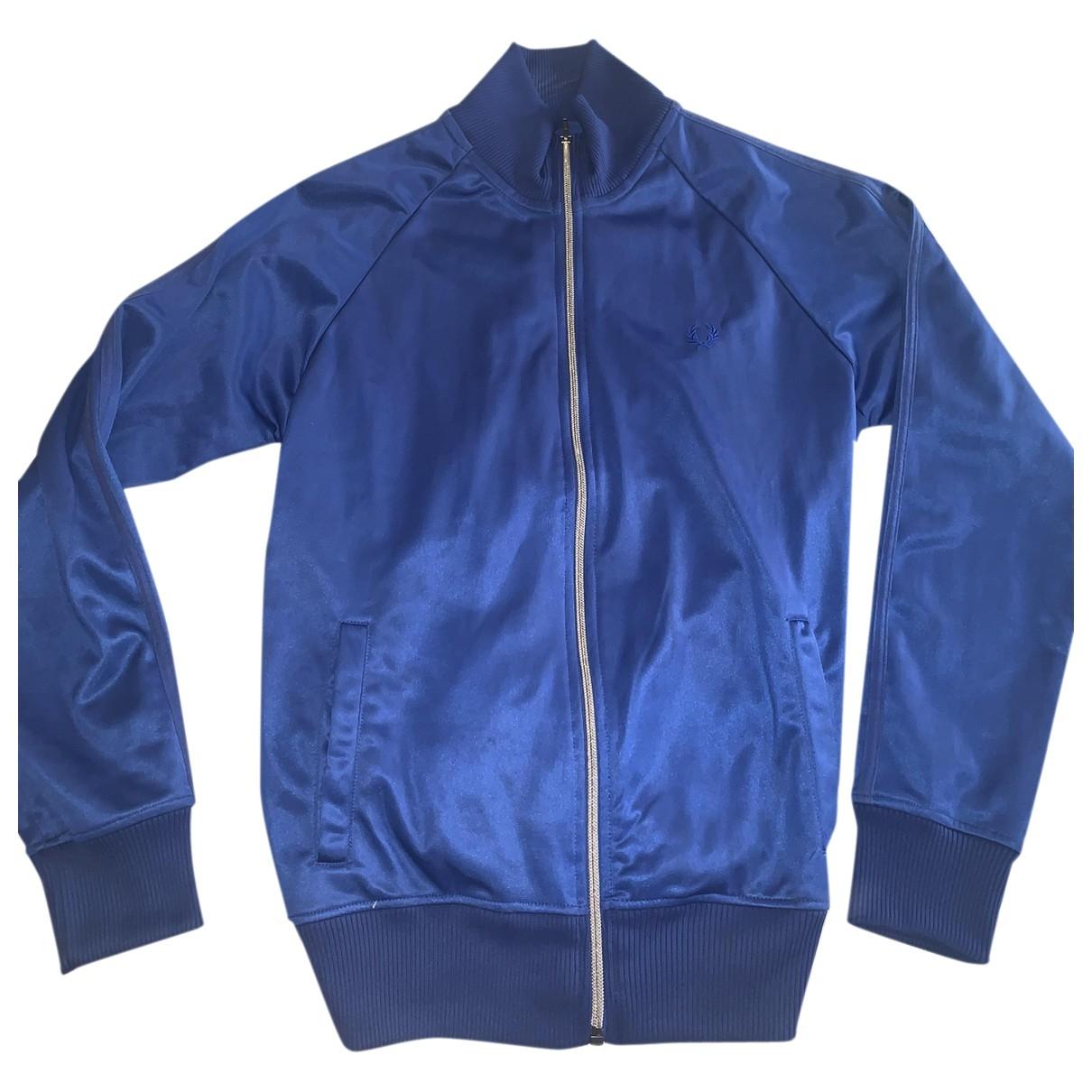Fred Perry \N Pullover.Westen.Sweatshirts  in  Blau Polyester