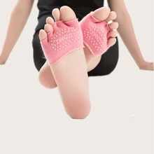 1 Paar Rutschfeste Yoga-Socken fuer den Vorfuss